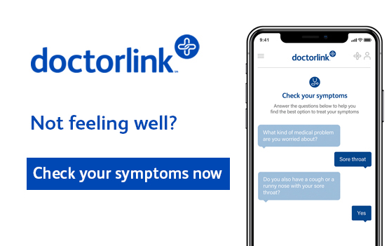 DoctorLink. Not feeling well check your symptoms now